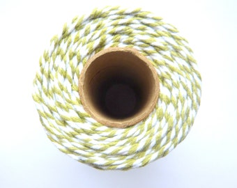 10m Bakers Twine 12ply 2mm 100 % Cotton Sage Green Crafts British Made