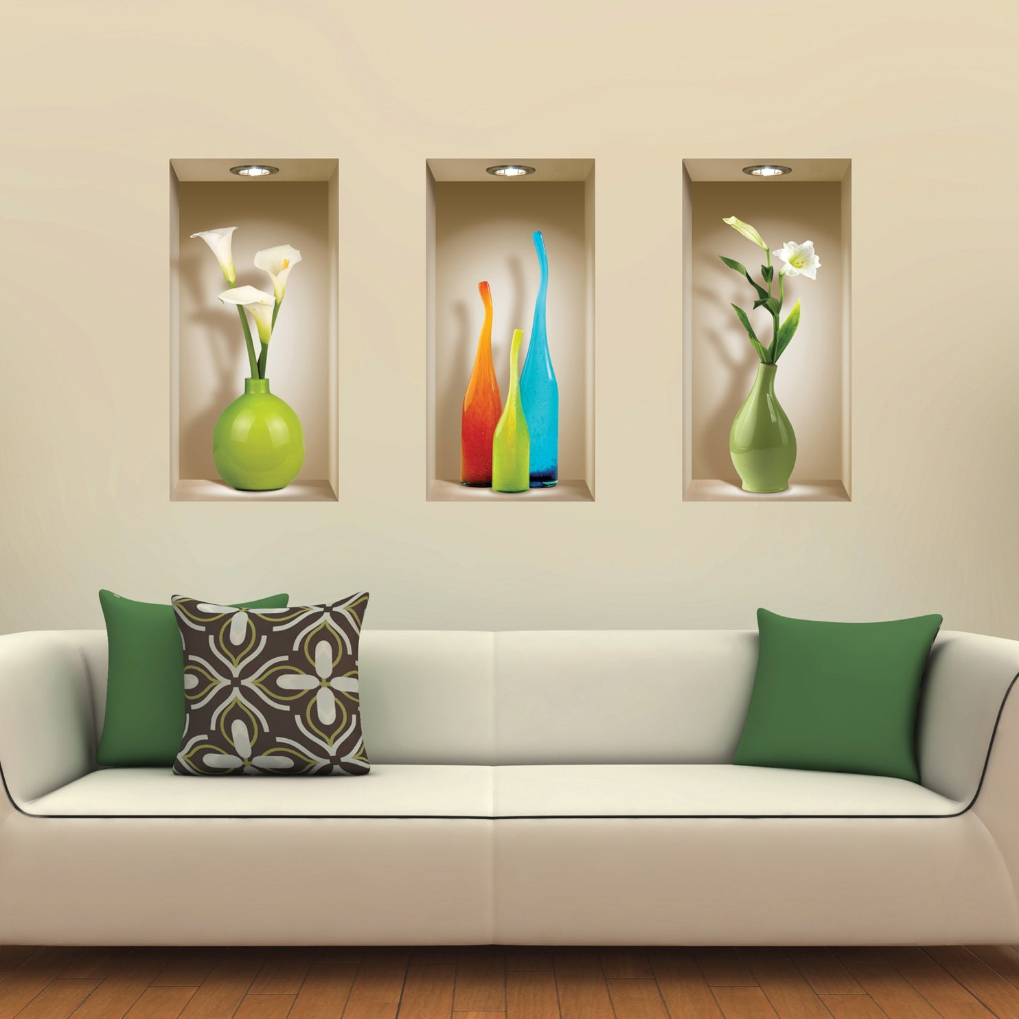 decoration niche salon. Black Bedroom Furniture Sets. Home Design Ideas