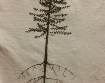Stretching Pine; men's large t-shirt