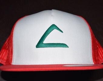 Pokemon Ash Ketchum Hat | Snap Back|Ash Hat | Ash Costume | Pokemon Hat | Ash Ketchum | Ketchum | Pokemon League | Indigo League | Cosplay