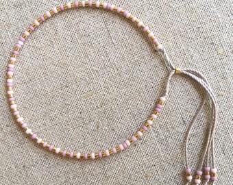 Fine Bead Bracelet, Gold Bead Stack Bracelet, Friendship Bracelet, Gift for her, Best friend gift