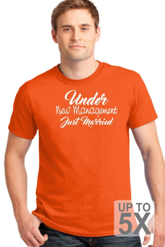 Under New Management T Shirt Funny T Shirt Bride And Groom