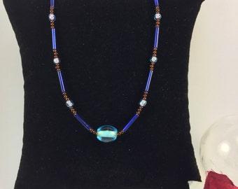 Blue Beacon Necklace