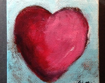 Heart Painting Original Art