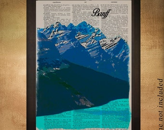 Banff National Park Dictionary Art Print Canada Peyto Lake Alberta Wall Art Home Decor Gift Ideas Travel da1310