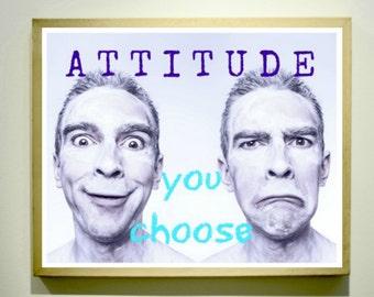 CHOOSE YOUR ATTITUDE / Classroom Posters / Educational Posters / Middle School Classroom / Classroom Art Classroom Decor Teaching Materials