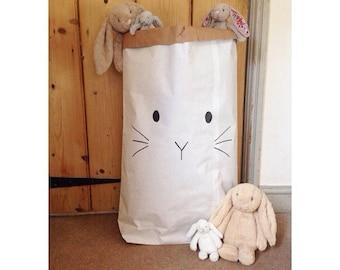 Bunny Face Paper Storage Bag