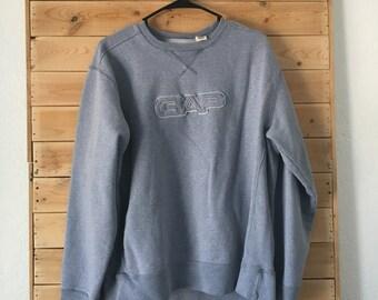Vintage GAP Sweatshirt // GAP Sweater // Vintage Light Blue GAP Sweatshirt