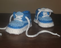 SALE!!  Crochet Baby Tennis Shoes - 3-6 months ONLY!