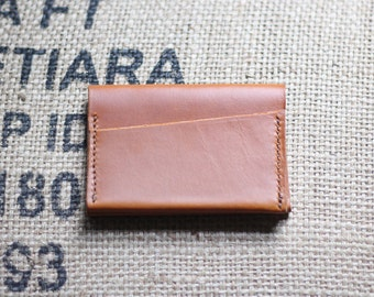 Butterscotch Leather Card Holder