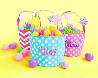 Personalized Polka Dot Easter Basket