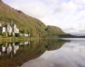 Irish castle on a lake photography (poster)