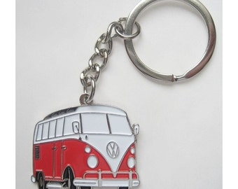 New Retro vintage VW combi bus keychain camper van low riding kustom rockabilly pin up 70's hippie volkswagen kustom low riding made in UK