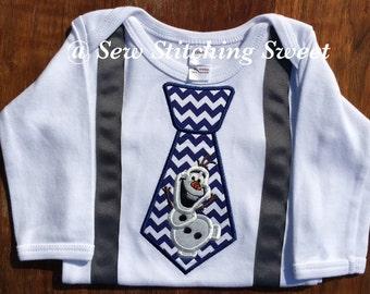 Olaf Shirt, Necktie Tie Suspenders Frozen, Olaf Necktie, Frozen Olaf Suit, Olaf Shirt Set