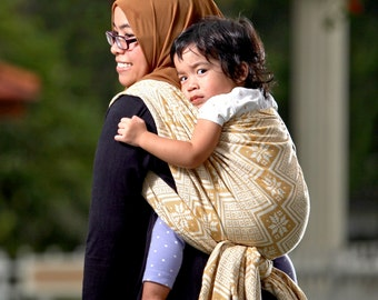 Woven Baby Wrap Sling Daiesu Octagram Gold