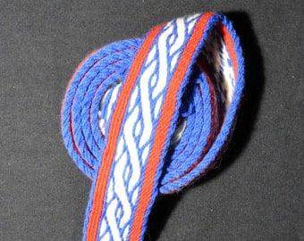 Tablet Woven Braid (Trim) Based on Birka Finds, Viking Tablet Weaving, Card Woven Medieval Braid, Viking Costume, 100% Natural Wool