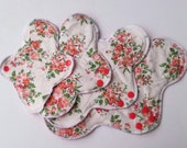 Vintage Roses Minky Cloth Pads ~ Mama Cloth ~ Cloth Menstrual Pads ~ Cloth Incontinence Pads ~ Reusable Cloth Pads ~ RUMP