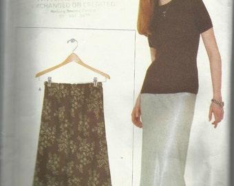 Vintage sewing Pattern. Vogue elements 9541. Skirt pattern 1991