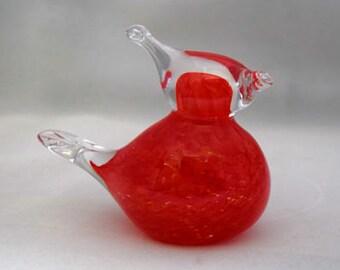 Glass Hand Sculpted Red Cardinal Bird State Birds Spirit Bird
