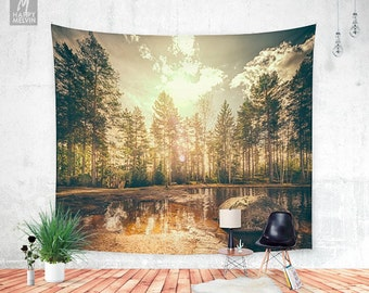 Sonne 2 - Wall tapestry - Tapestry - Forest tapestry - Boho - Wall Hangings - Wanderlust - Bohemian - Home decor - Wall decor - Dorm decor.
