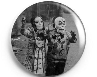2.25 inch Vintage Halloween 2 Button/Magnet/Bottle Opener/Compact Mirror