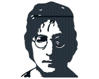 John Lennon - Machine Embroidery Design - Instant Download - Two sizes