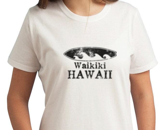Waikiki Hawaii Surfboard T-Shirt