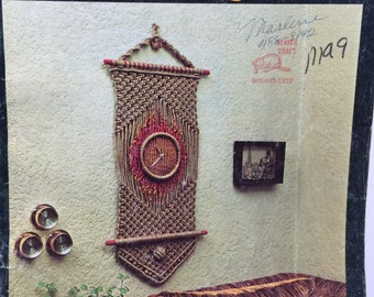 Vintage 1978 Macrame Why Knot Pattern and Instructions for Macrame