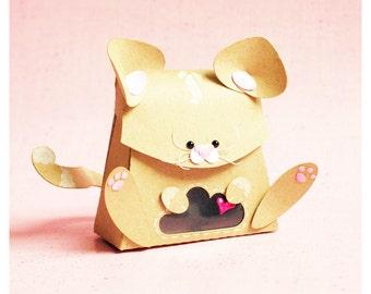 """plotterdatei - gift box """"little kitten"""""""