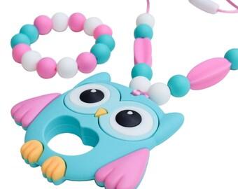 Kids Sensory Chewelry - Owl Chew Necklace