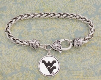 West Virginia Mountaineers Medallion Clasp Bracelet