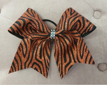 "3"" Tiger Cheer Bow"