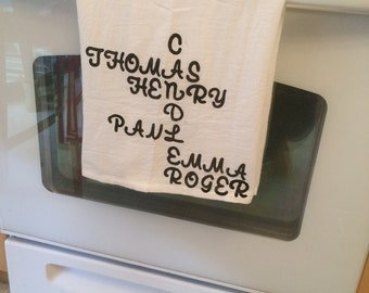 Personalised Dish Towel