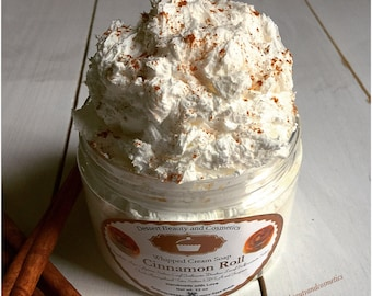 Cinnamon Roll Whipped Cream Soap