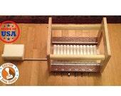 """MPTC (Multi Pass-Thur Cutter) Birch /Mahogmany Wire Soap Cutter - 12 Cut Cutter in 1"""" Thick Cuts"""
