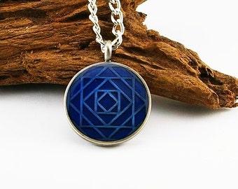 Multi-square pendant on aluminum chain, mens necklace, mens pendant, mens jewelry, mens gift, mens chain
