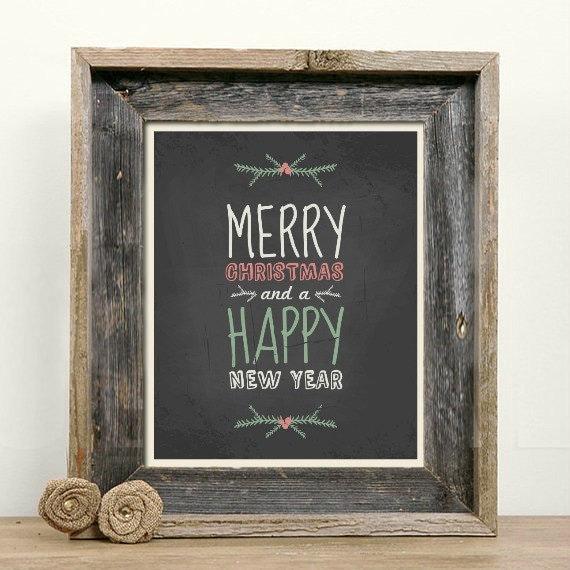 chalkboard christmas message merry christmas happy new