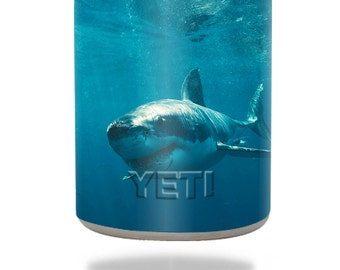 Skin Decal Wrap for YETI RTIC OZARK Trail 10oz Rambler Lowball Colster Can sticker skins Shark