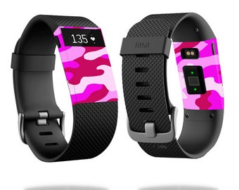 Skin Decal Wrap for Fitbit Blaze, Charge, Charge HR, Surge Watch cover sticker Pink Camo