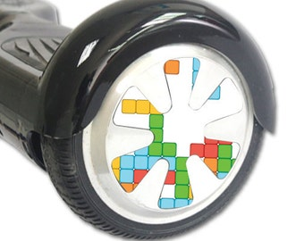 Skin Decal Wrap for Hoverboard Balance Board Scooter Wheels Tetris