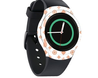 Skin Decal Wrap for Samsung Gear S2, S2 3G, Live, Neo S Smart Watch, Galaxy Gear Fit cover sticker Coral Designer