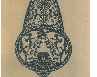 """Papercut, Scherenschnitt """"Lithuanian Ornament"""" by Lithuanian folk artist Odeta Brazeniene"""