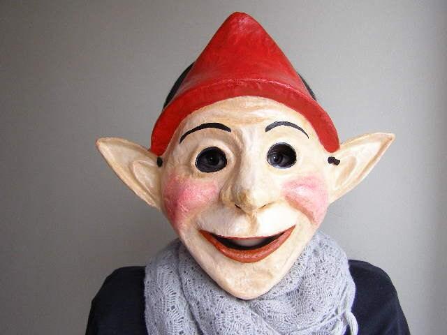 Masquerade mask elf mask paper mache mask for Paper mache mash