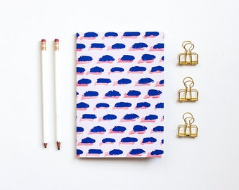 A5 Patterned Notebook - Brush Strokes