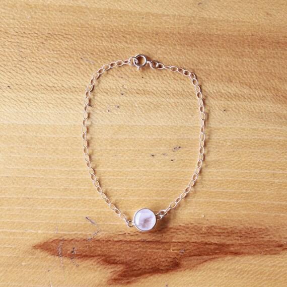 Moonstone Bracelet, Moonstone Jewelry, Bridesmaid Jewelry, Bridesmaids Gift, Gold Filled Bracelet, June Birthstone Bracelet, Tiny Bracelet