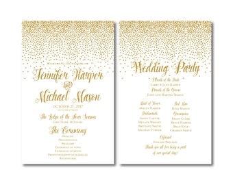 PRINTABLE Wedding Program, Ceremony Program, Order of Service Program, Wedding Party Program, Ceremony Order of Service, Programs #CL116