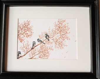 Chickadees on a Branch