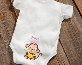 Personalized Baby Girl Booty Onsie - Personalized Onsie - Baby Girl Onsie - Baby Shower - Baby Girl