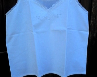 vintage lace linen undershirt