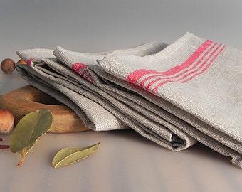 Linen Burlap Towels Linen Towels Linen Tea Towels Dish Towels Guest Towels Hand Towels Natural Linen Towels Washed Burlap Set of 3 Towels